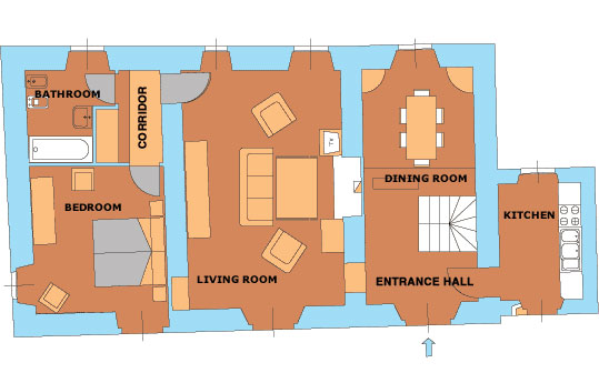 Casa Caterina First Floor Plan