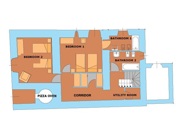 Casa Caterina Ground Floor Plan