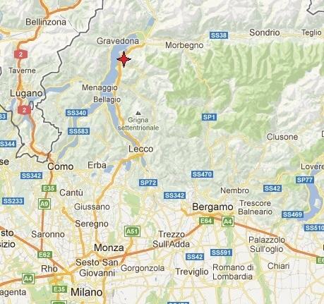 Colico, Italy on Lake Como