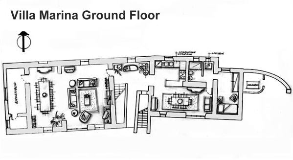Villa marina gira italian villas for Italian villa floor plans